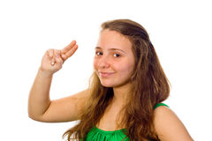Girl saluting Stock Images