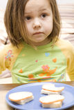Girl and a sandwich Stock Photo