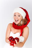 Girl Santa Stock Images
