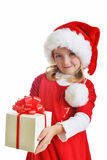 Girl in santa cap Royalty Free Stock Photography
