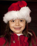 Girl Santa Claus Stock Images