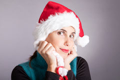 Girl Santa Claus Royalty Free Stock Image
