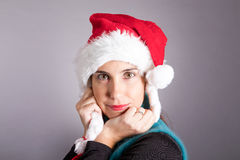 Girl Santa Claus Stock Images