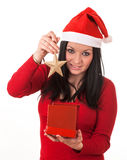 Girl santa claus Stock Image