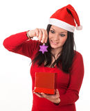 Girl santa claus Royalty Free Stock Image