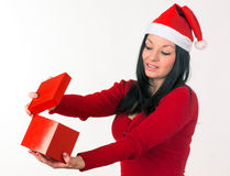 Girl santa claus Royalty Free Stock Photos