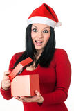 Girl santa claus Stock Photos