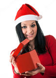 Girl santa claus Royalty Free Stock Photo