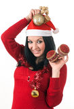 Girl santa claus Royalty Free Stock Photography