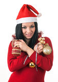 Girl santa claus Stock Photo