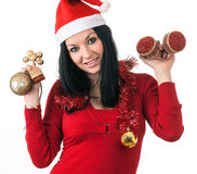 Girl santa claus Stock Photography