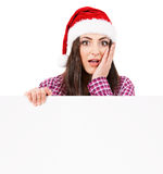 Girl in Santa hat Royalty Free Stock Photography