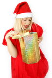 Girl Santa Klaus Royalty Free Stock Images