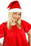 Girl Santa Klaus Stock Photography