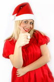 Girl Santa Klaus Royalty Free Stock Photography