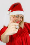 Girl Santa Klaus Stock Images