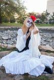 Girl Santa Muerte Royalty Free Stock Photos