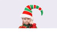 Girl - Santa's elf with the banner Stock Photography