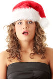 Girl in Santa's hat Royalty Free Stock Photography