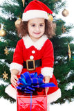 Girl in Santa suit Royalty Free Stock Photos