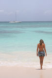 Girl in saona beach Stock Photo