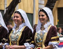 Girl with the Sardinian typical costumes Royalty Free Stock Photo