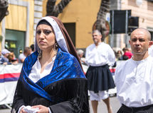 Girl with the Sardinian typical costumes Royalty Free Stock Images