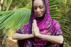 Girl in sari Stock Photos