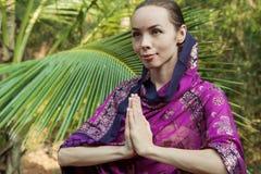 Girl in sari Stock Image