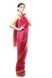 Girl in sari Royalty Free Stock Photography