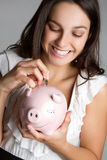 Girl Saving Money Royalty Free Stock Photography