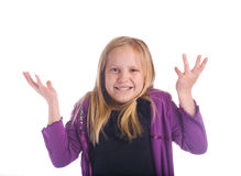 Girl Say What Royalty Free Stock Photography