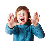 Girl says hi Stock Images