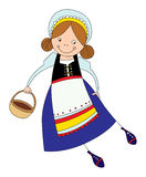 Girl in the Scandinavian suit Royalty Free Stock Photos