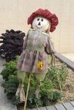 Girl Scarecrow, Kitchen Garden, Adelaide Botanic Garden Stock Images