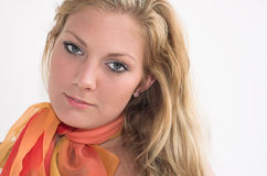 Girl with scarf. Young woman with a scarf Royalty Free Stock Image