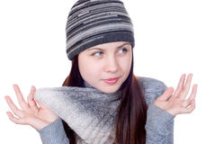 The girl in a scarf Stock Photo