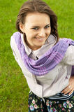 Girl in scarf Stock Images