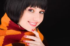 Girl in the scarf Royalty Free Stock Photos