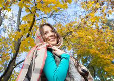 Girl with scarf Royalty Free Stock Images