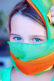 Girl and a scarf. Royalty Free Stock Image