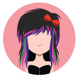 Girl with scene style Royalty Free Stock Photography