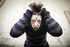 Girl schizophrenic Royalty Free Stock Photography