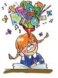 Girl in school. Royalty Free Stock Image