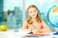 Girl in school Stock Image