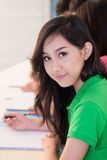 Girl in school Stock Photo