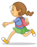 A girl with school bag Royalty Free Stock Photo