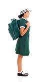 Girl school bag Stock Photos