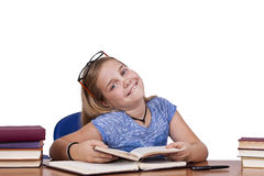 Girl in school Stock Images