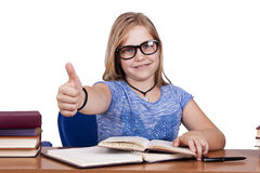 Girl in school Royalty Free Stock Image